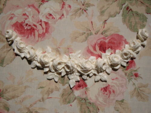Large FRENCH ROSE SWAG GARLAND Furniture Applique Architectural Pediment