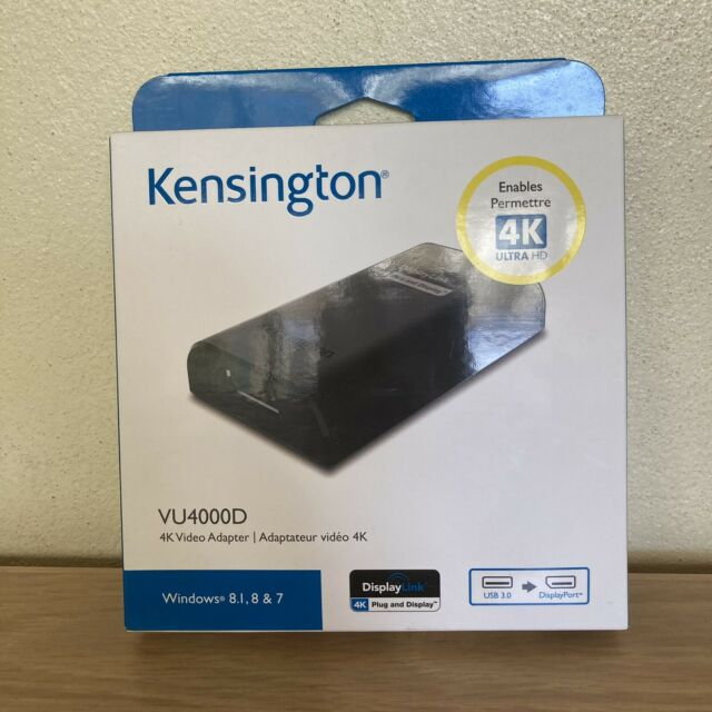 Kensington VU4000D USB 3.0 to DisplayPort 4K Ultra HD Video Adapter Connection