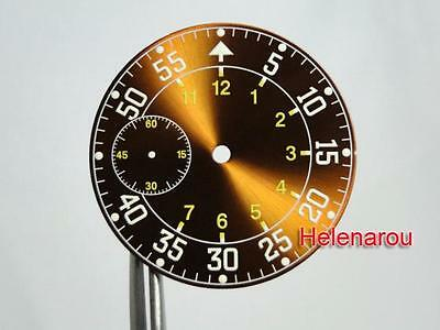 NEW SUPER LUME B-Uhr Pilot Brown Sunray Watch Dial ETA Unitas 6497 ST36 Movement