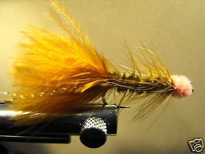 Pink 1 Dzn Woolly Bugger Leech Trout or Pan fish