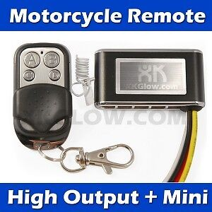 3 modes Motorcycle Mini Remote for LED Accent Light 8A