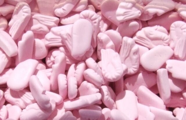 FOAM SHRIMPS - WHOLESALE RETRO UK SWEETS CANDY PINK WEDDING FAVOURS PARTY BAGS
