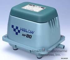 HIBLOW HP-80 AIR PUMP NEW SEPTIC, POND, AERATOR, AQUAPONICS, W/ WARRANTY