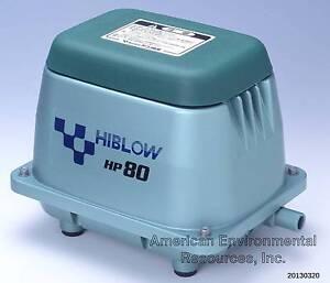 Hiblow hp 80 air pump new septic pond aerator for Aquaponics aeration