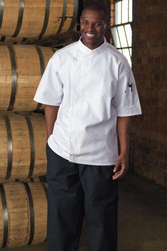 0428 XS to 3XL Calypso Chef Coat 10 Knot Button White