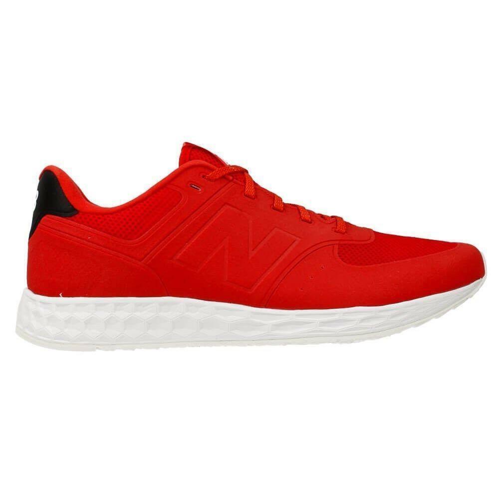 Mens NEW BALANCE 574 Fresh Foam Red Textile Trainers MFL574RB