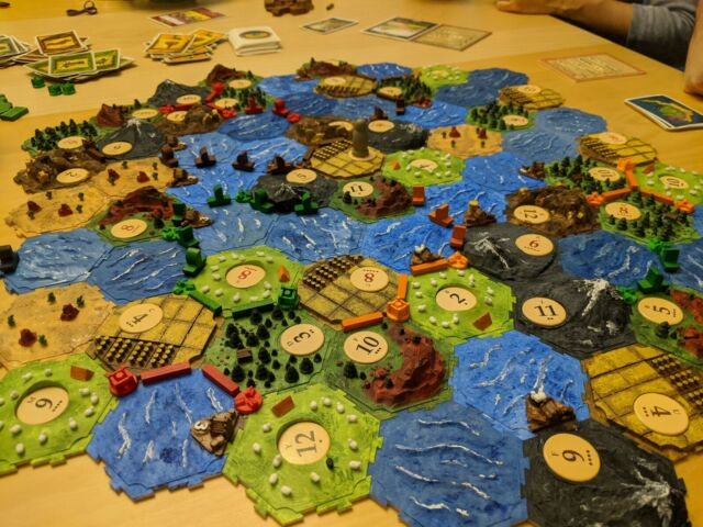 Settlers Of Catan And Seafarers Expansion 3d Printed Interlocking Tiles Painted Ebay