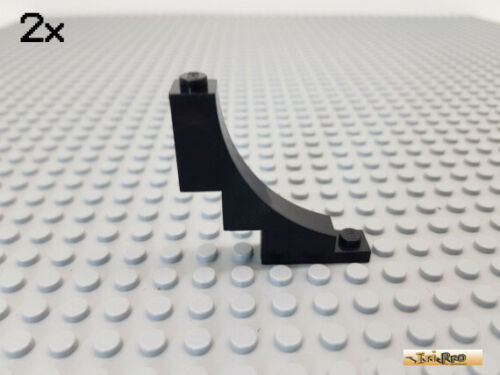 Bogenstein 1x5x4 negativ schwarz 30099 LEGO® 2Stk Bogen