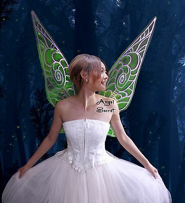 FWN1 Tinkerbell Fairy fancy kid Adults Costume Wings photo shooting iridescent