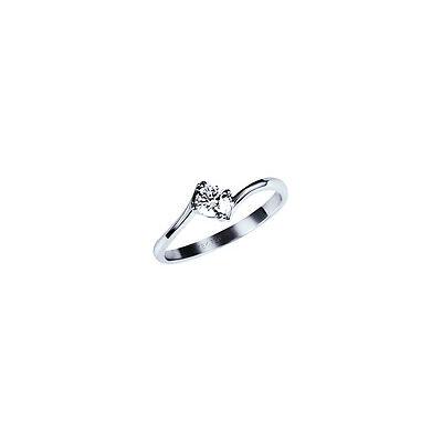 Diamant Ring Solitär 585 Weißgold Verlobung gemmologisches Zertifikat Garantie