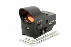 PK-06-Collimator-Red-Dot-Scope-For-Weaver-Mount-1-MOA-Original-by-BelOMO