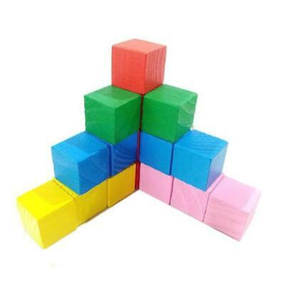 Square Cubes Kids Colorful Wooden Stacking Stacking Up Building Blocks Toys SS3