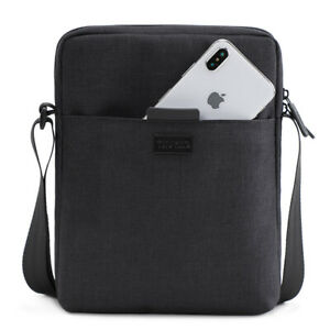 Men-039-s-Shoulder-Bag-For-Ipad-Casual-Crossbody-Waterproof-Business-Men-Light-Black