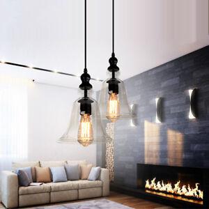 2X-Glass-Pendant-Light-Kitchen-Lamp-Bar-Pendant-Lighting-Bedroom-Ceiling-Lights