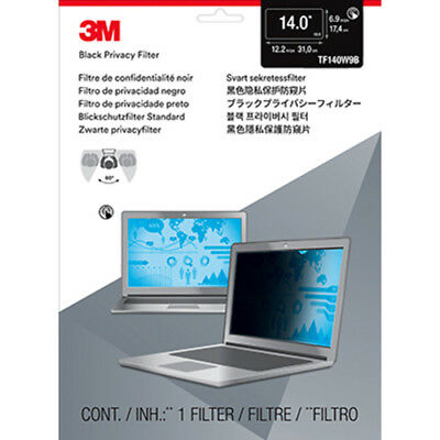 """3M Privacy Filters TF140W9B Touch Privacy Filter for 14.0/"""" Widescreen Laptop,"""