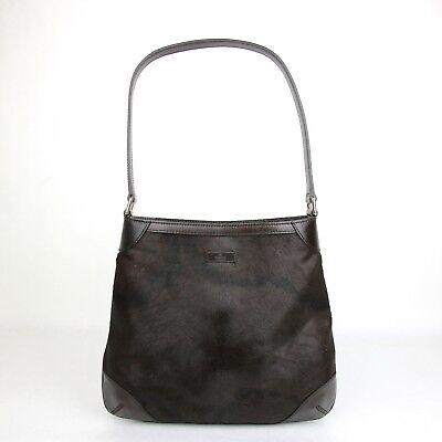 New Authentic Gucci Brown Pony Hair Hobo Handbag 1 257296 3062