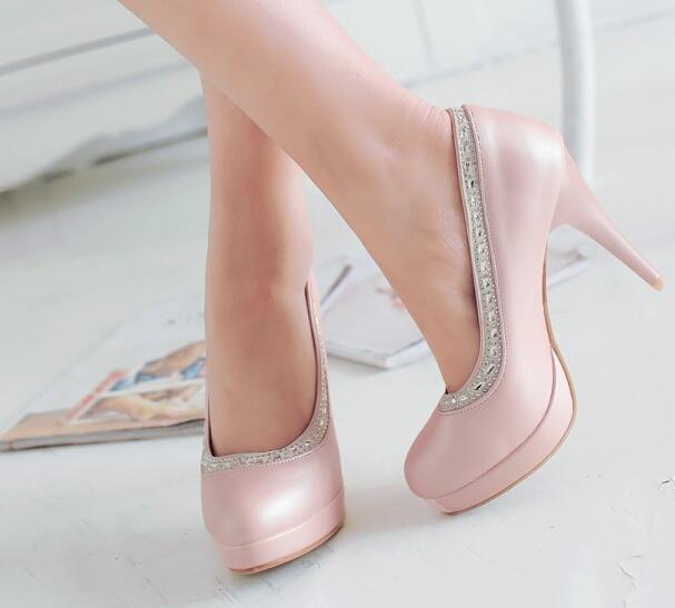 Tacón de aguja Zapatos zapatos de salón mujer elegantes mujer salón perno plataforma 10.5 13a6f2
