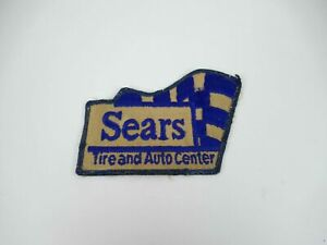 Vintage SEARS Tire and Auto Center Uniform Logo Sew On Patch Badge Embroidered