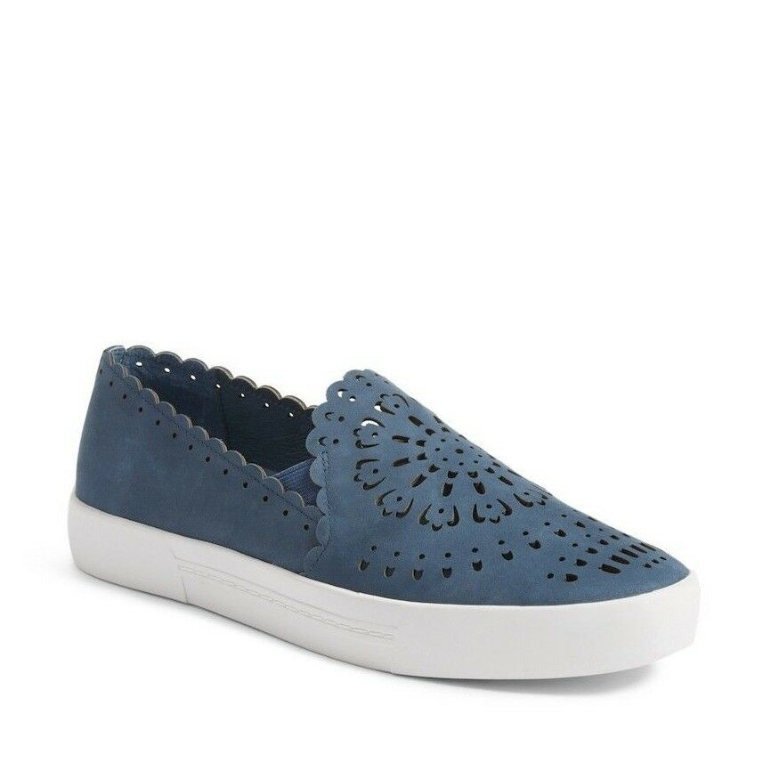 Joie Diya Cut Out Suede Slip On Santorini bleu Platform Sneakers