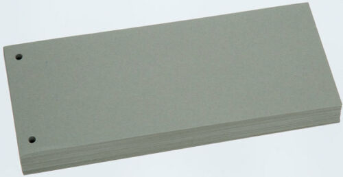 100 Büroring Trennstreifen grau 190g Karton Register Trennblätter NEU /& OVP