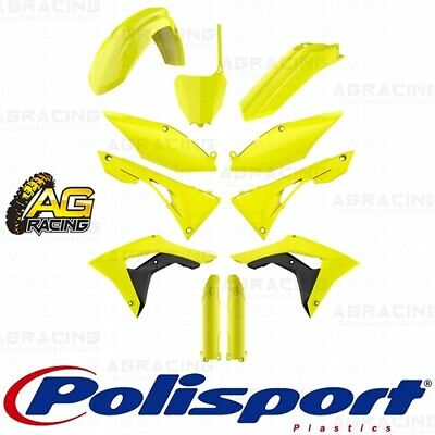 Polisport Complete Replica Plastic Kit Flo Yellow for Kawasaki KX250F 2017-2018