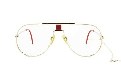 Contemplativo Rare Aviator Actuell Couture Frame Germany Act. 521 321 , Pale Golden With Red