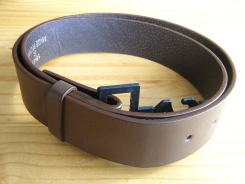 "Brown Leather Belt Strap 1 1//2/"" Wide 38/"" Long Size Small New No Buckle"