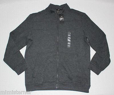Calvin Klein Mens Lifestyle Full Zip Sweatshirt Jacket Carbon Heather Grey Large
