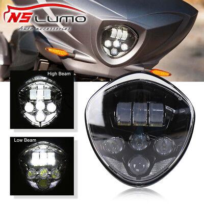1x7Inch Headlight LED RGB Angel Eyes For Kawasaki VN Vulcan 500 750 800 900 1500