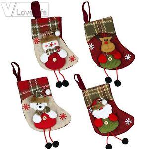 Christmas Stockings Socks Santa Claus Candy Gift Bags Merry Christmas Decor