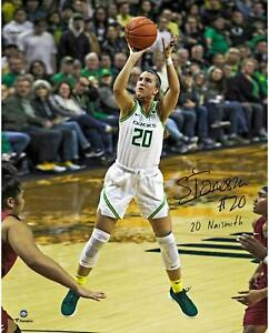 Sabrina-Ionescu-Oregon-Ducks-Signed-16-034-x-20-034-Shooting-Photo-amp-20-Naismith-Insc