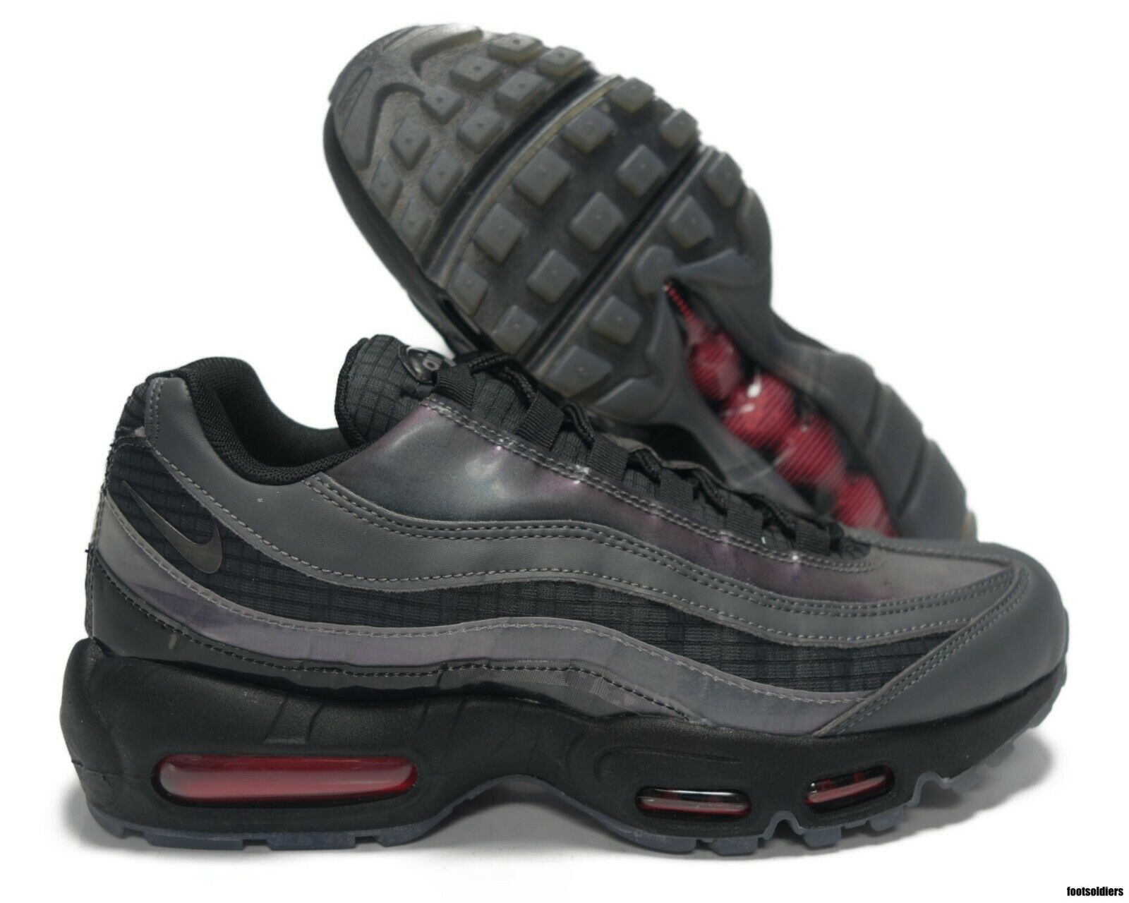 best choice casual shoes on feet images of Nike Air Max 95 LV8 Homme Chaussure Braise Brille/Gris Foncé ...