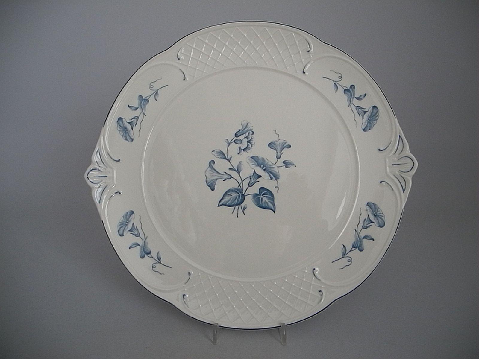 V & B Villeroy & Boch Val Blau Kuchenplatte   Kuchenteller mit Handhaben   | Zu einem erschwinglichen Preis