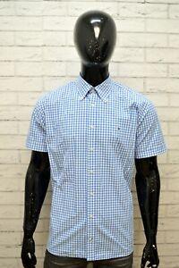 TOMMY-HILFIGER-Uomo-Camicia-Taglia-L-Maglia-Manica-Corta-Camicetta-Shirt-Quadri