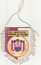 RSC Royal Sporting Club Anderlecht Belgique FOOTBALL FANION WIMPEL PENNANT 80s