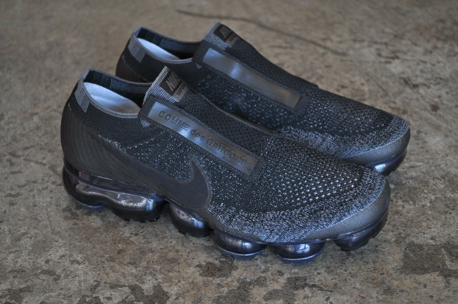 747bf8d1c7a Nike Air Vapormax Flyknit CDG Comme Des Garcons - Black Dark Grey ...