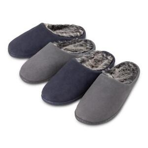 ba1ccee670b24 Image is loading Isotoner-Mens-Heritage-Suede-Mules-Boxed