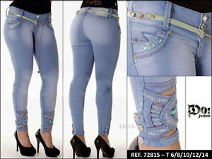 d8691e470d518 Image is loading Jeans-colombianos-rose-cola-marca-do-pantalones-vaqueros-