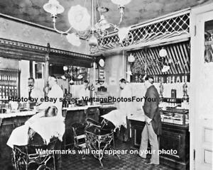 Old-Antique-Barber-Shop-Hair-Cut-Hot-Razor-Shave-Cash-Register-Photo-Picture