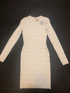 Torn-by-Ronny-Kobo-Bandage-Dress-Off-White-Women-039-s-Size-S-NWT-MSRP-368