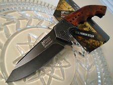Mtech Xtreme Assisted Black Wash Steampunk Hunter Pocket Knife A829BW 440C New