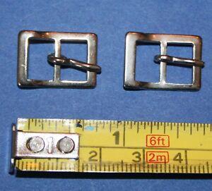 2-Metall-Schnallen-mit-Dorn-fuer-Schuhe-Guertel-Huete-Kleider-Traeger-ca-2x1-4cm