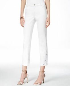 Womens-White-INC-Denim-Straight-Leg-Regular-Fit-Crop-Jeans-Size-10-P