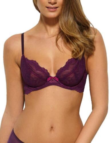 Gossard Superboost Lace Non-Padded Plunge Bra 7725 Womens Underwired Bras Purple