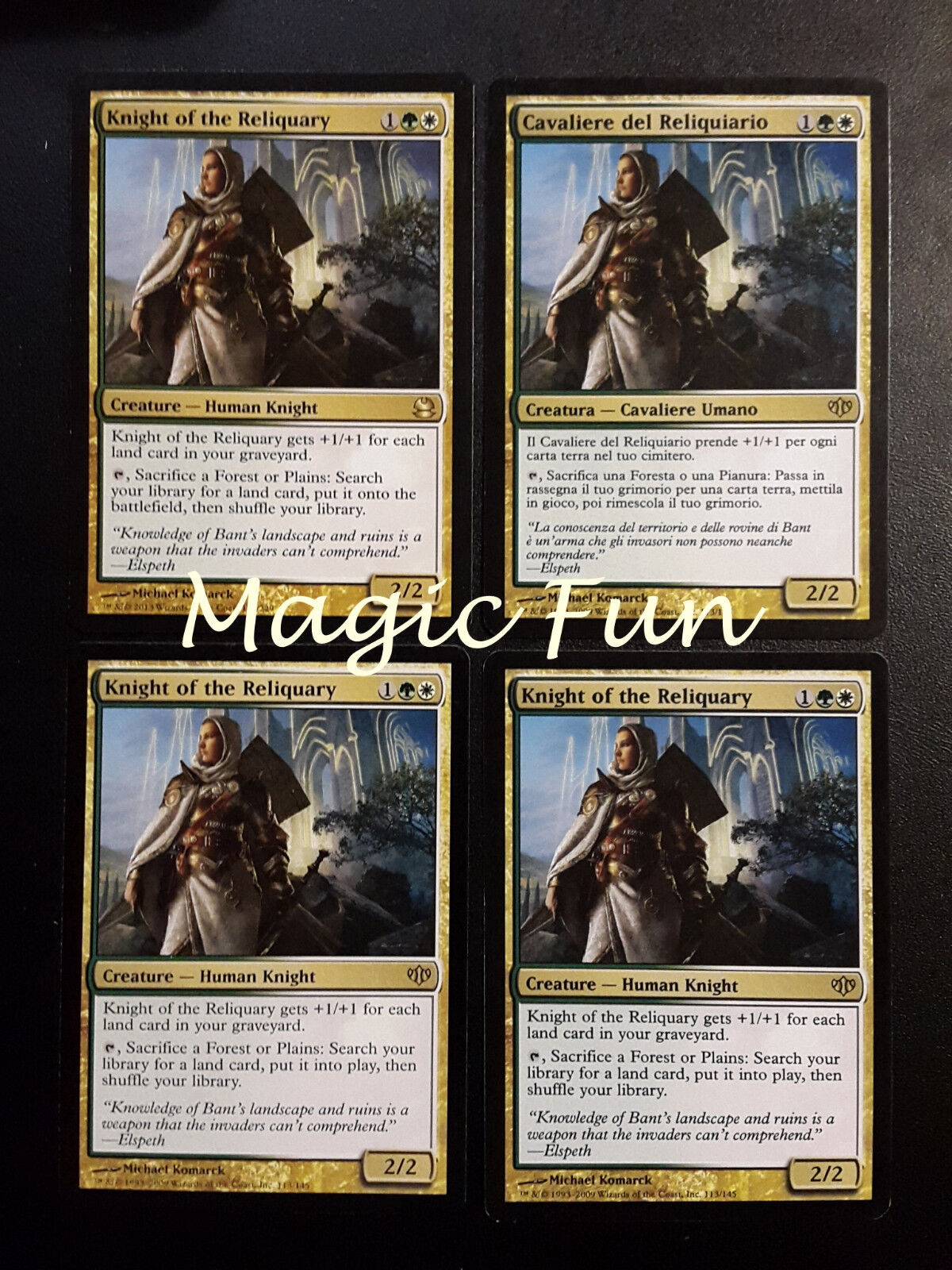 Set 4x cavaliere del reliquiario - kight der reliquienschrein - mtg magic (mf)