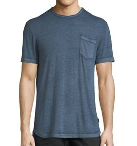John-Varvatos-Star-USA-Men-039-s-Short-Sleeve-Burnout-Pocket-Crew-T-Shirt-Blue-Topaz