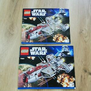 LEGO-INSTRUCTIONS-BOOKLET-ONLY-Star-Wars-REPUBLIC-FRIGATE-7964