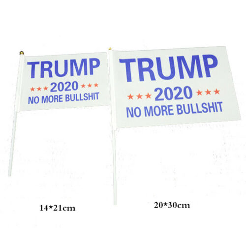 1//10PCS 2020 Trump Flag White Blue Banner Keep America Great Flags Acces