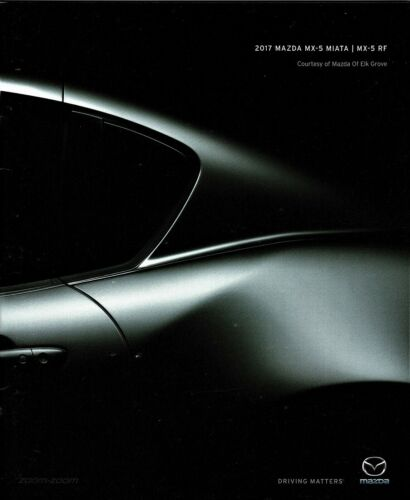 2017 Mazda MX-5 Miata MX-5 RF Sport Club Grand Touring New Sales Brochure