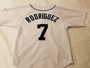 release date: a2915 e76bc Details about TWO IVAN PUDGE RODRIGUEZ DETROIT TIGERS 7 JERSEYS; SIZES: 8,  YOUTH LARGE